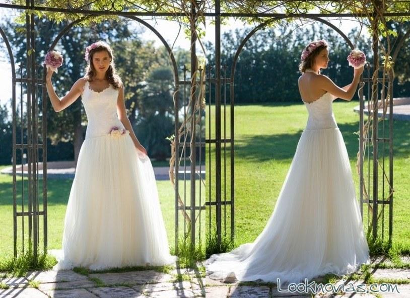 vestido de escote halter de blanca miret