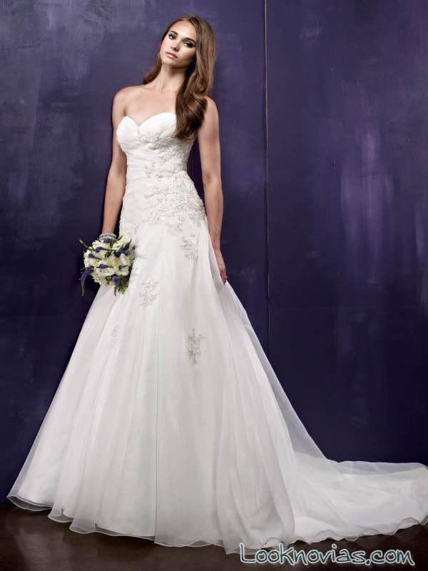 vestido de gasa blanco ella rose
