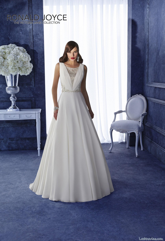 vestido de gasa para novias sencillas