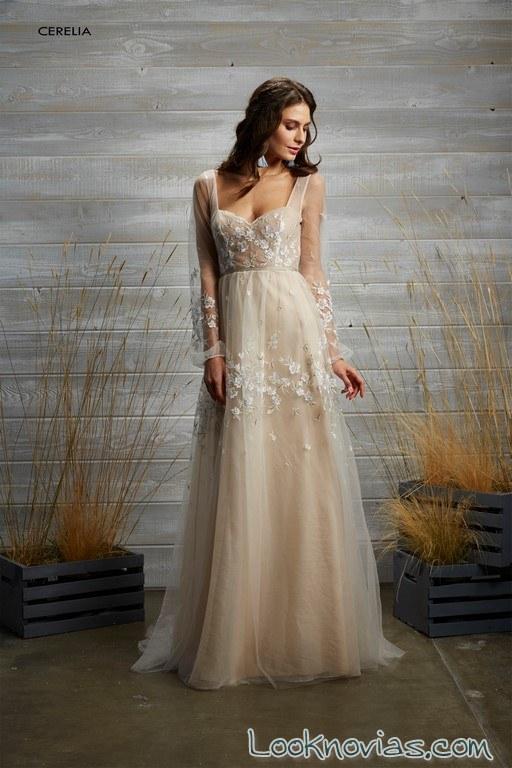 vestido de gasa tara lauren