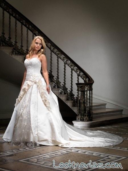 vestido de grace harrington con falda bicolor