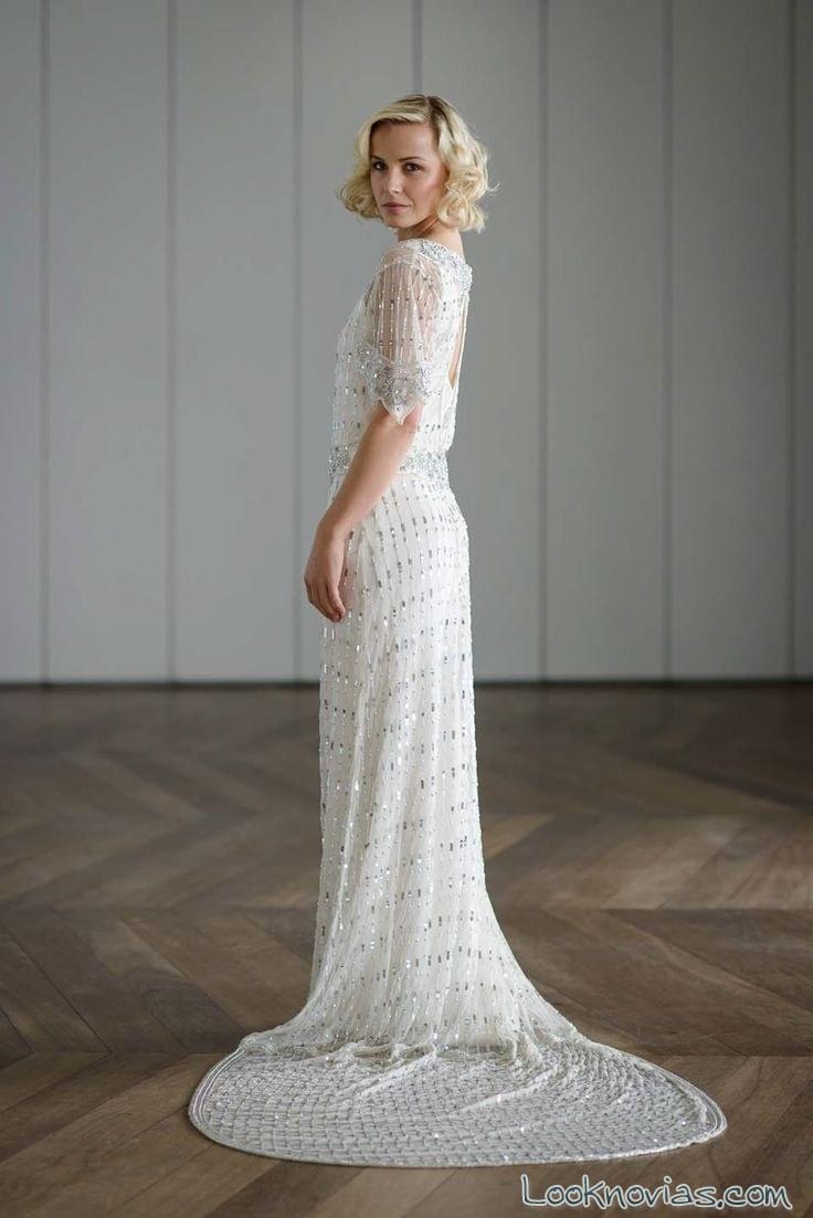 vestido de manga corta por vicky rowe