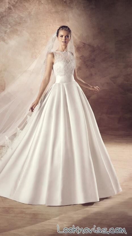 vestido de novia avenue diagonal con cinturón satinado
