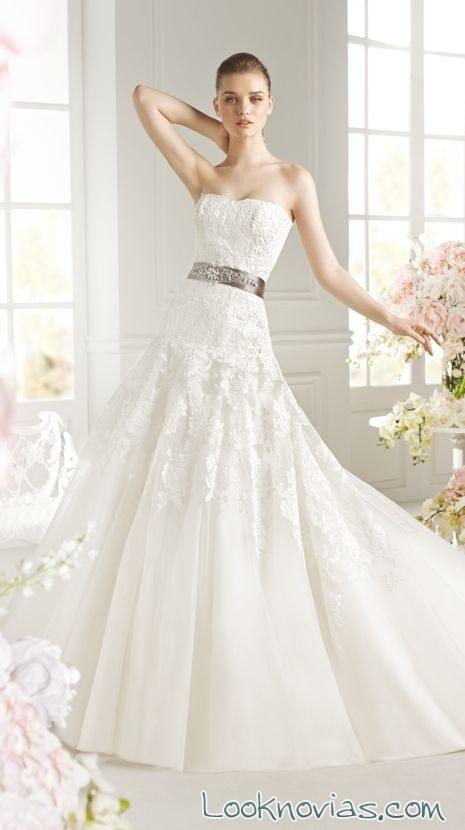 vestido de novia avenue diagonal con cinturón