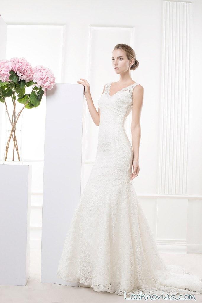 vestido de novia blanco con tirantes rico a mona
