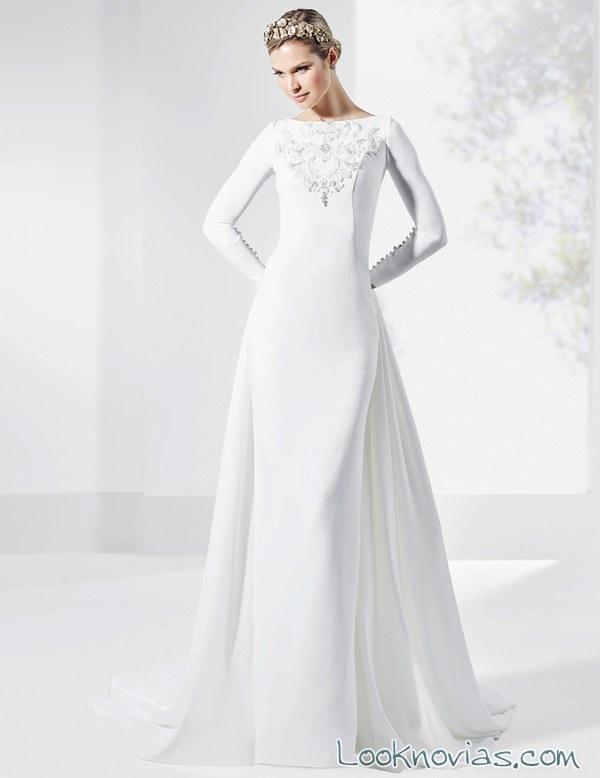 vestido de novia blanco franc sarabia con bordado
