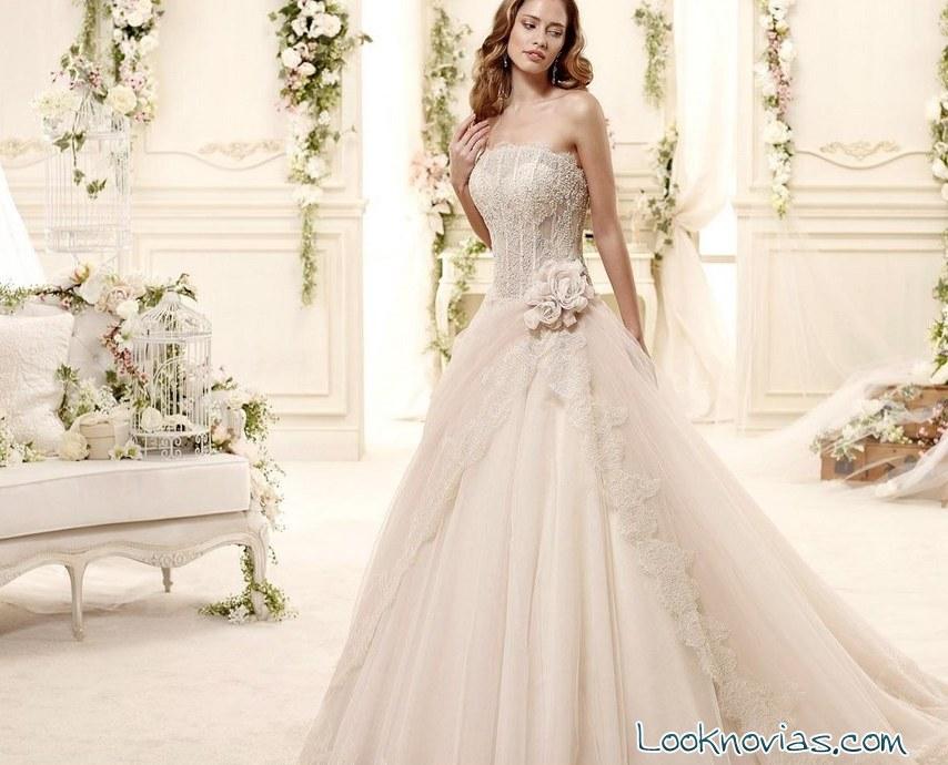 vestido de novia colet con color