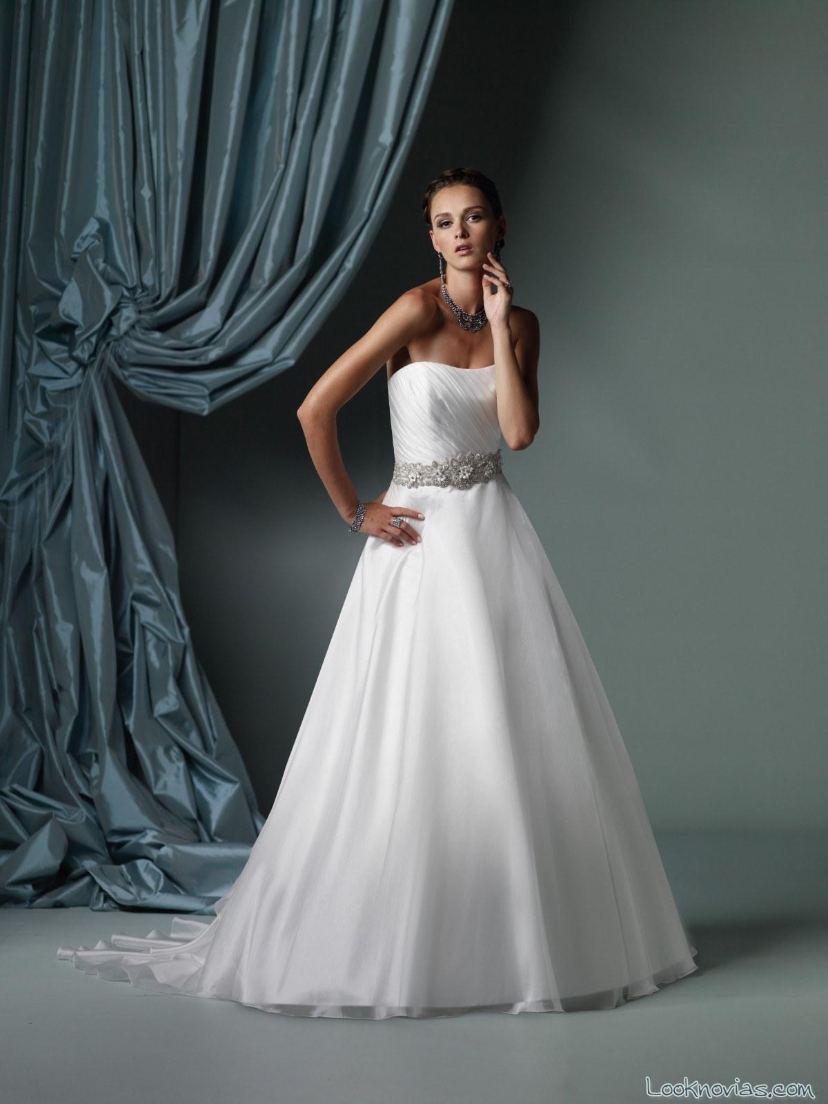 vestido de novia con cinturón james clifford