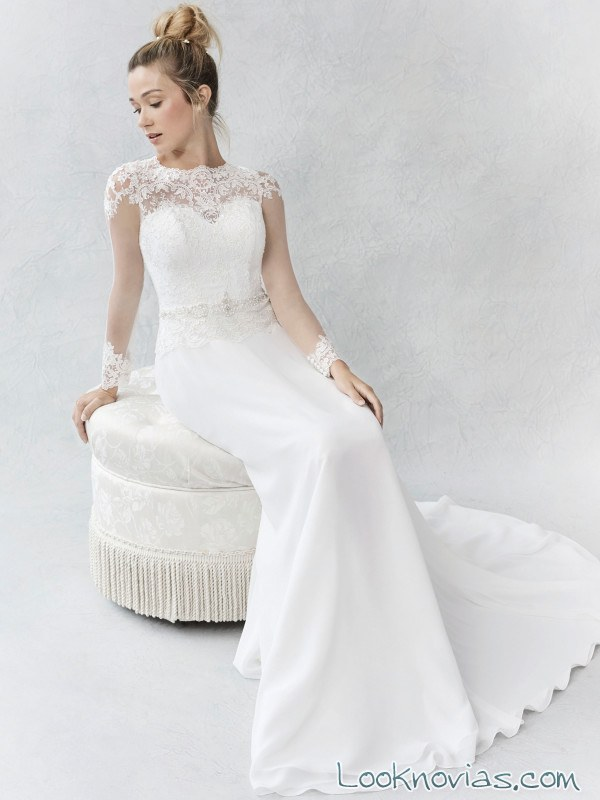 vestido de novia con escote fantasía ella rosa