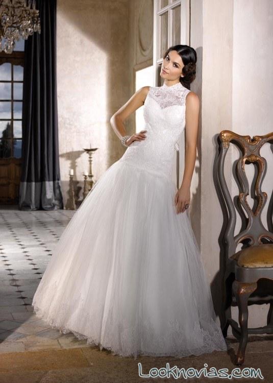 vestido de novia con escote fantasía miss kelly