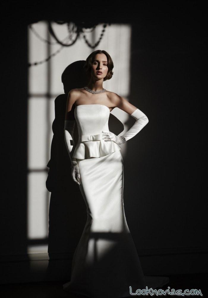 vestido de novia con guantes