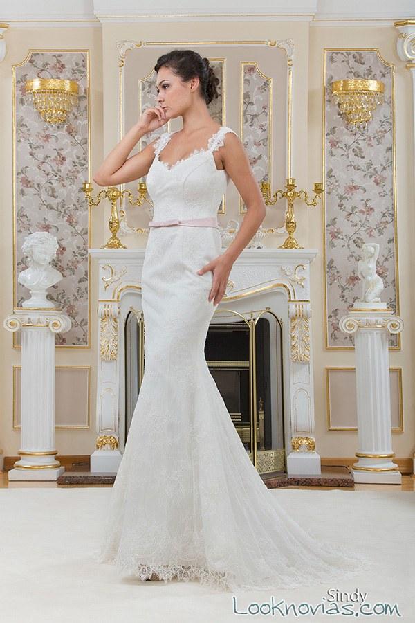 vestido de novia con tirantes sherman