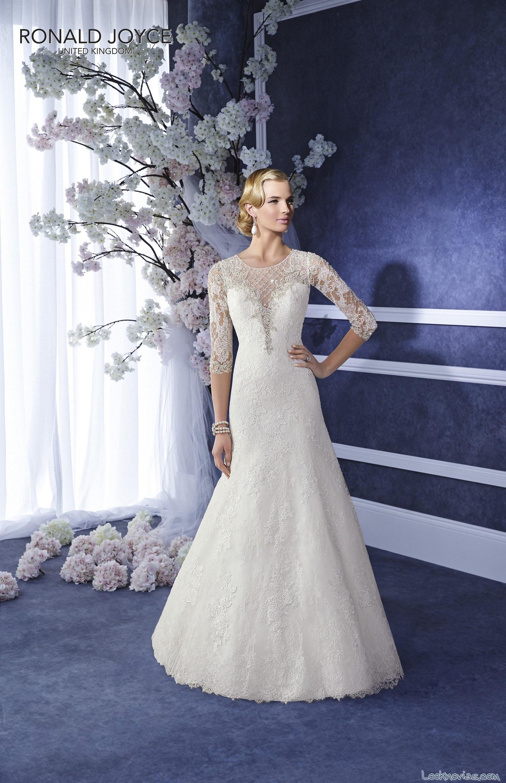 vestido de novia corte sirena con mangas encaje