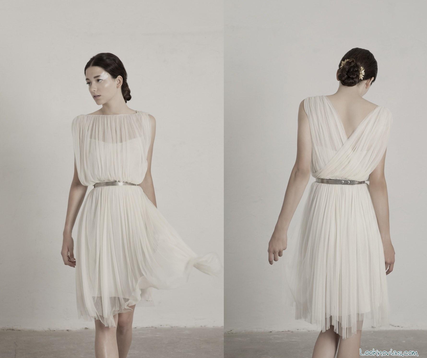 vestido de novia corto de Cortana