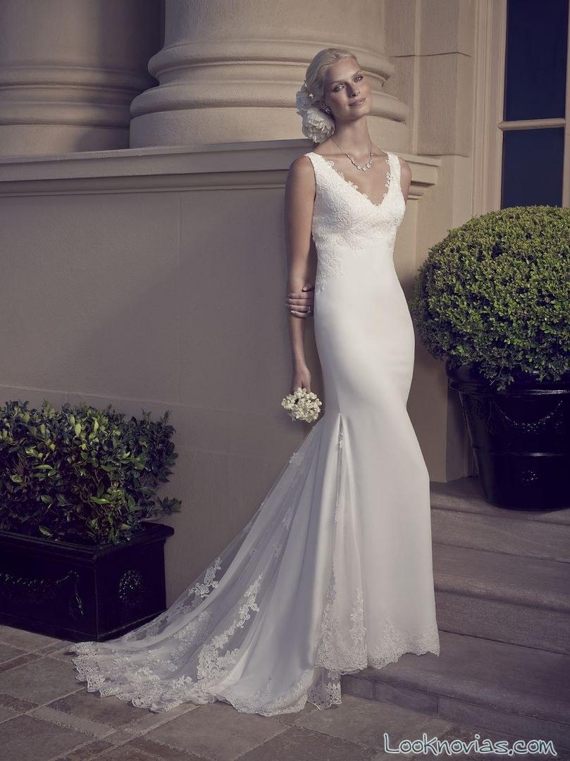 vestido de novia delicado 2016 casablanca