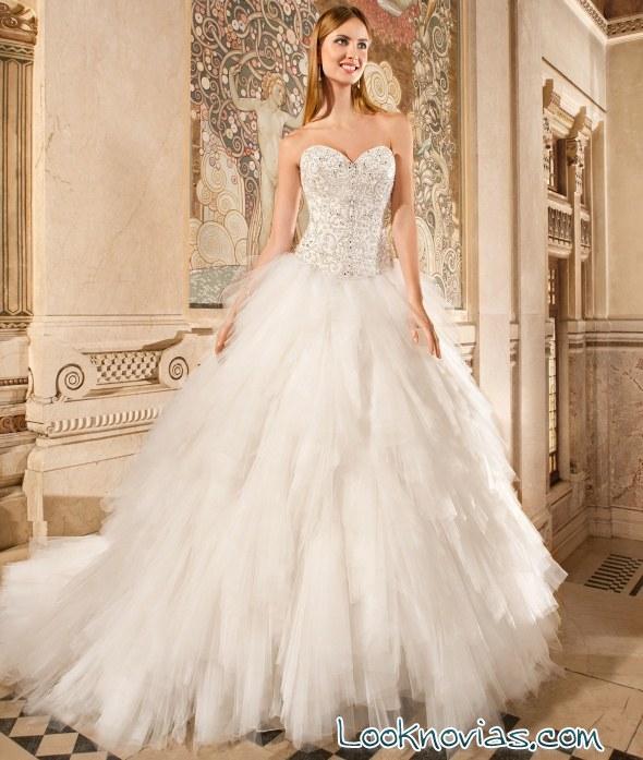 vestido de novia demetrios con corpiño