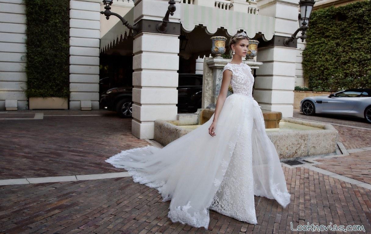 vestido de novia doble falda nicole spose