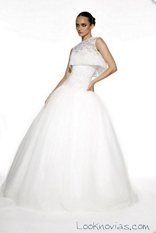 vestido de novia edgardo bonilla con top