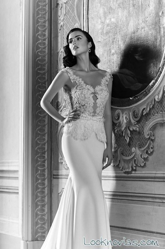 vestido de novia elegante con encajes