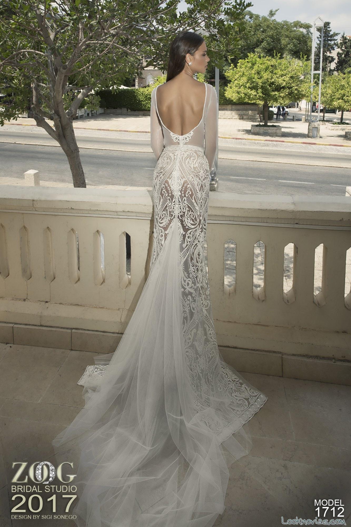 vestido de novia escote en la espalda