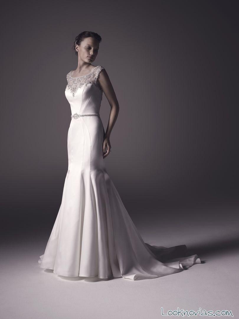 vestido de novia evasé de amaré couture