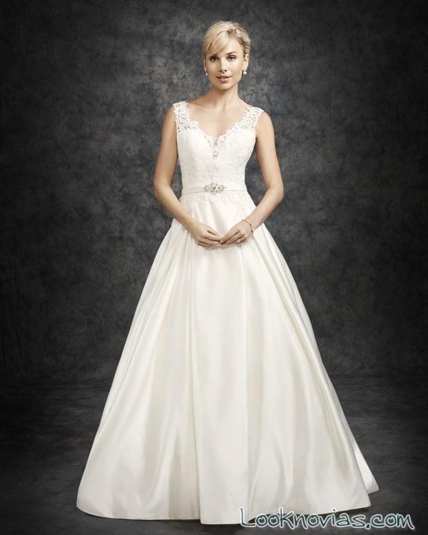 vestido de novia evasé ella rosa