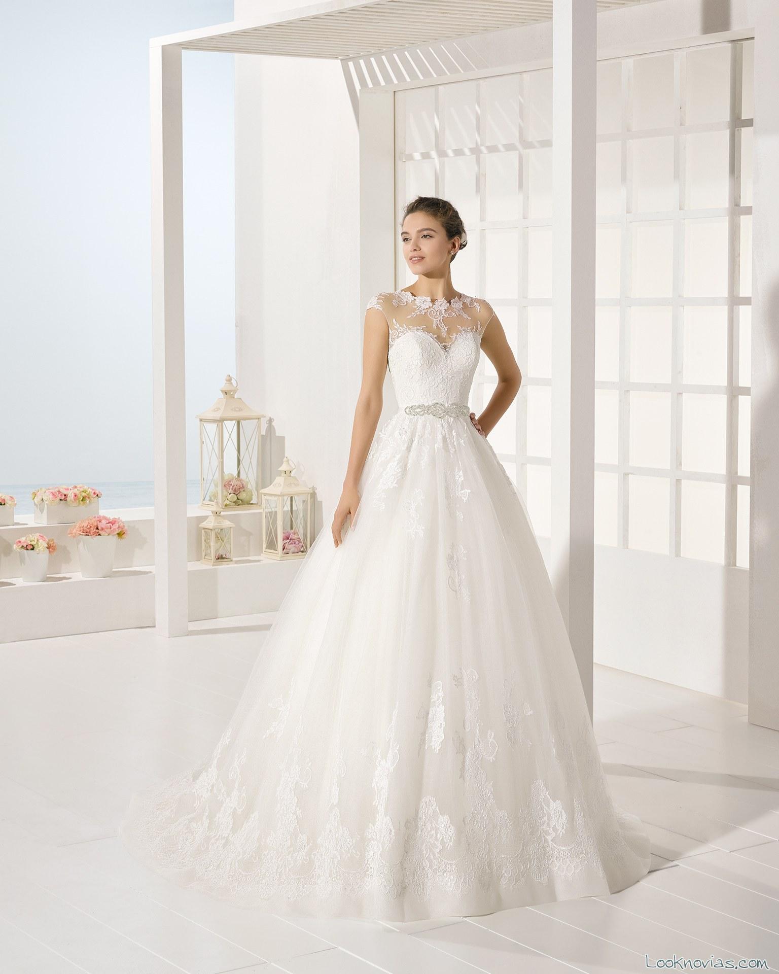 vestido de novia falda volumen luna novias