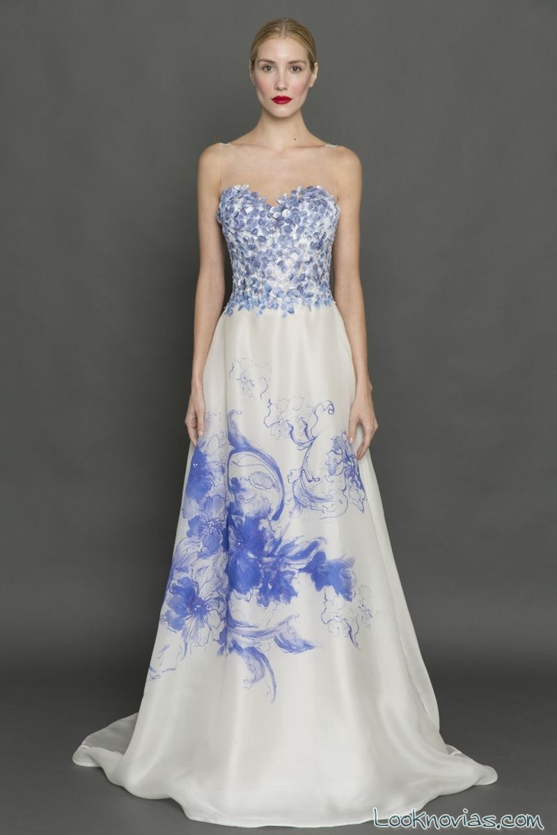 vestido de novia francesca miranda azul