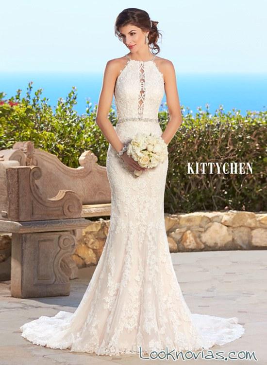 Vestidos de novia sencillos corte sirena