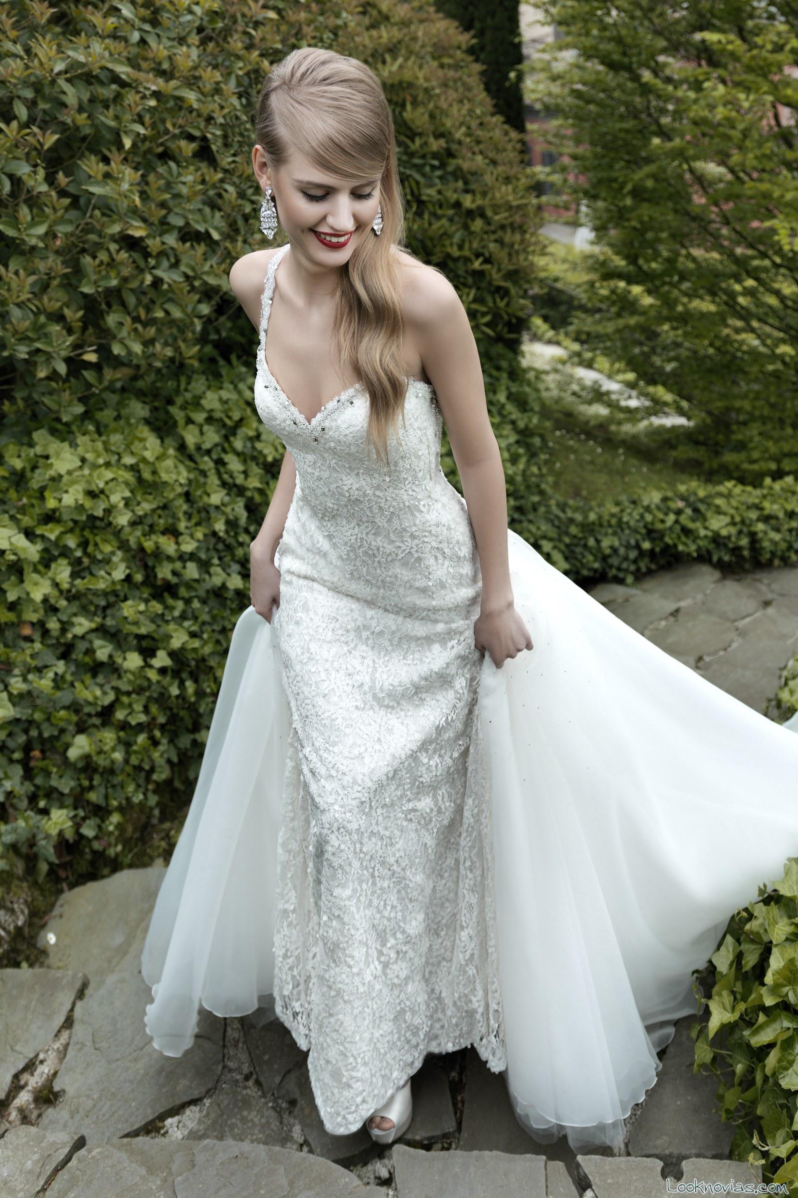 vestido de novia larga cola valentini spose
