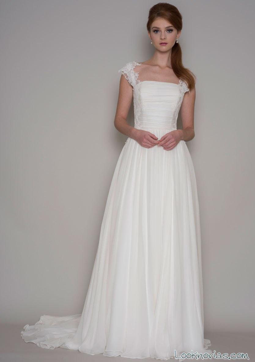 vestido de novia lou lou con tirantes