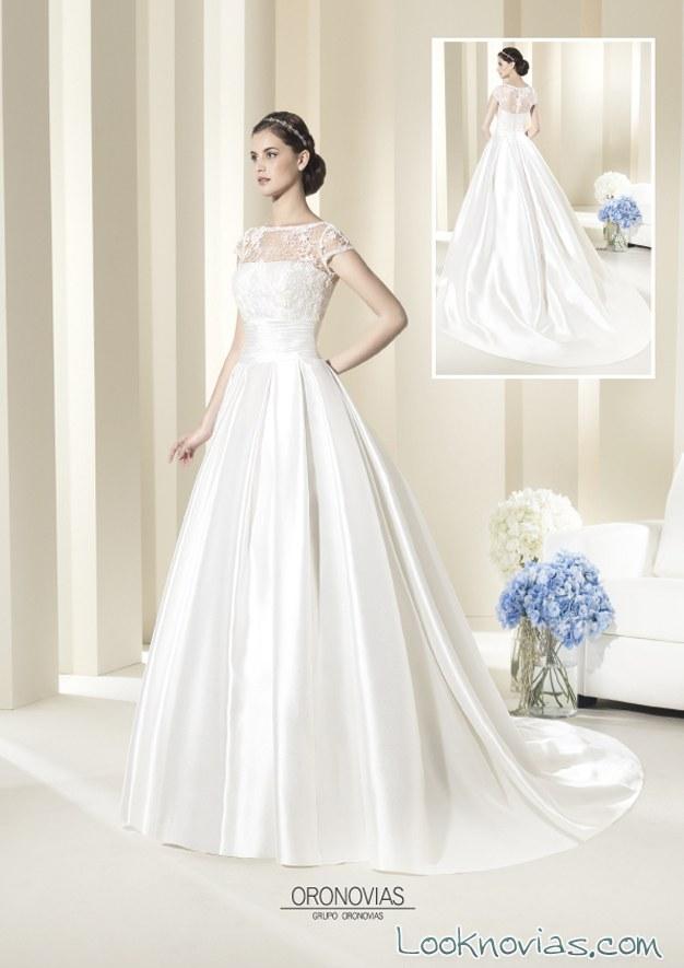 vestido de novia oronovias combinado