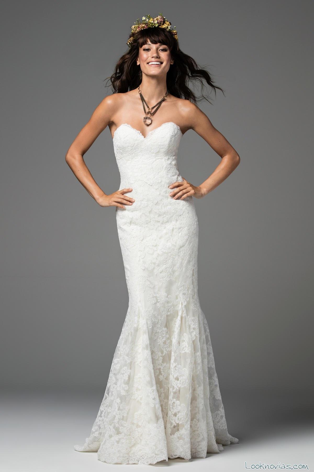 vestido de novia recto nueva colección watters