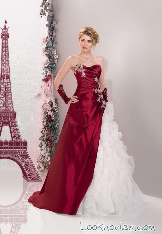 vestido de novia rojo y blanco