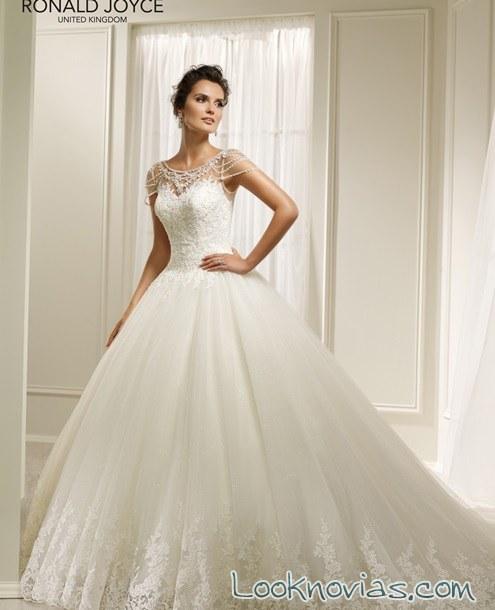 vestido de novia ronald joyce 2017 blanco