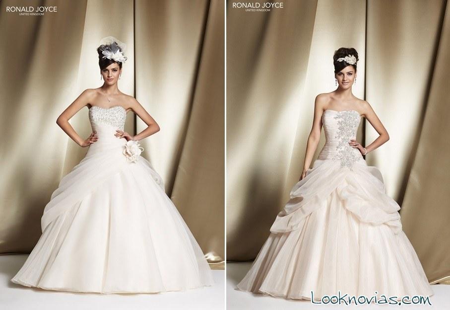 ronald joyce viste a las novias con estilo princesa