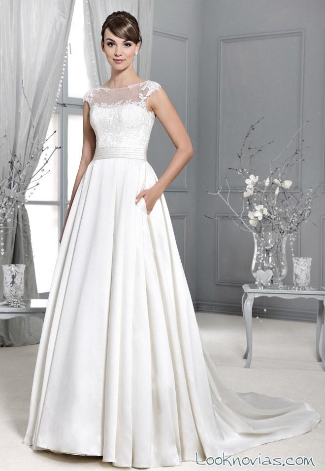 vestido de novia satinado agnes bridal