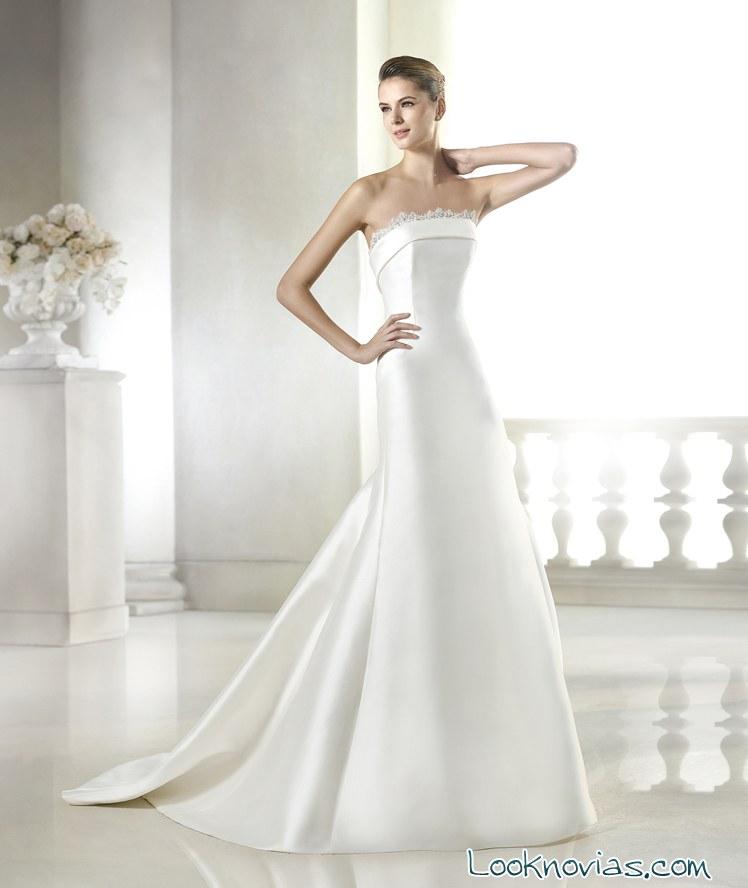 vestido de novia sencillo Costura