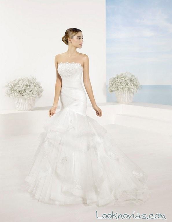 vestido de novia sirena blanco luna novias