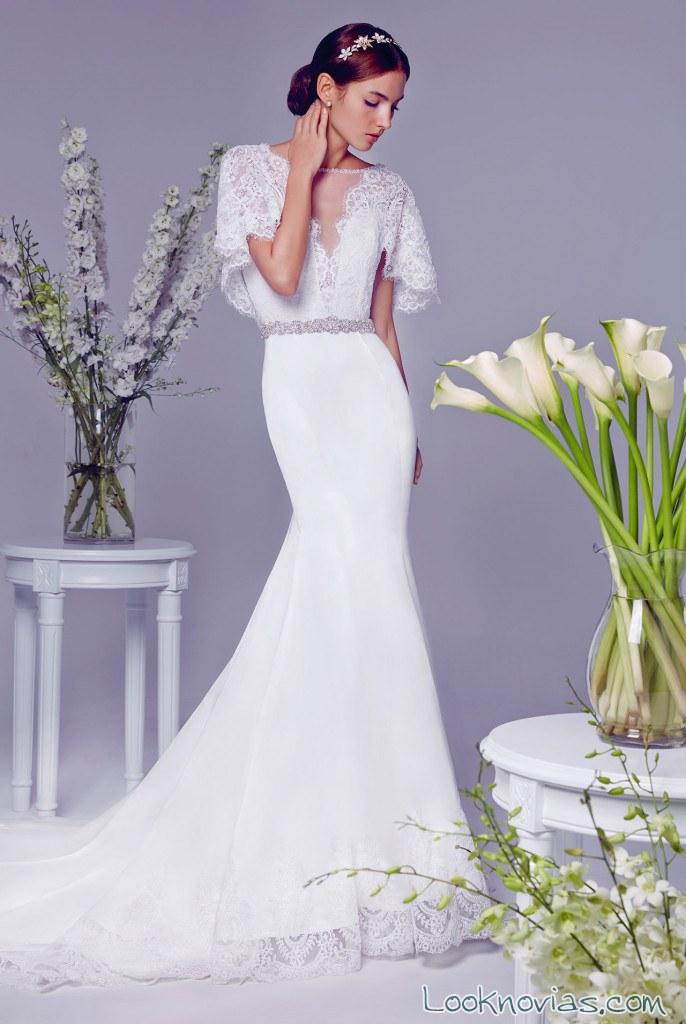vestido de novia sirena con falda sencilla