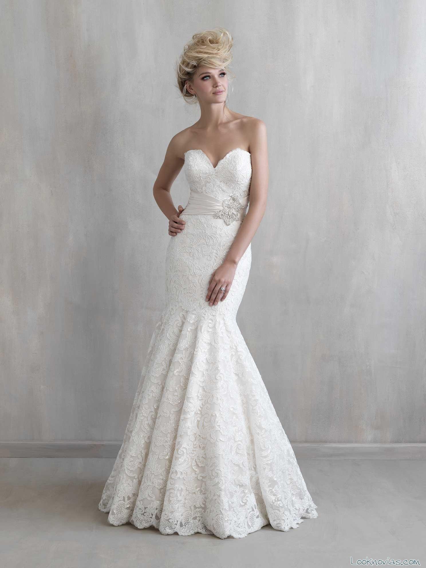 vestido de novia sirena con pliegues