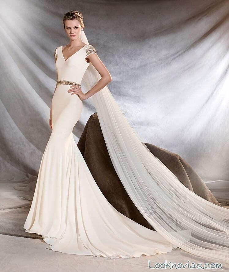 vestido de novia sirena pronovias 2017