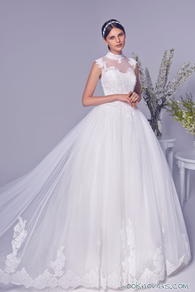 vestido de tul rico a mona para bodas