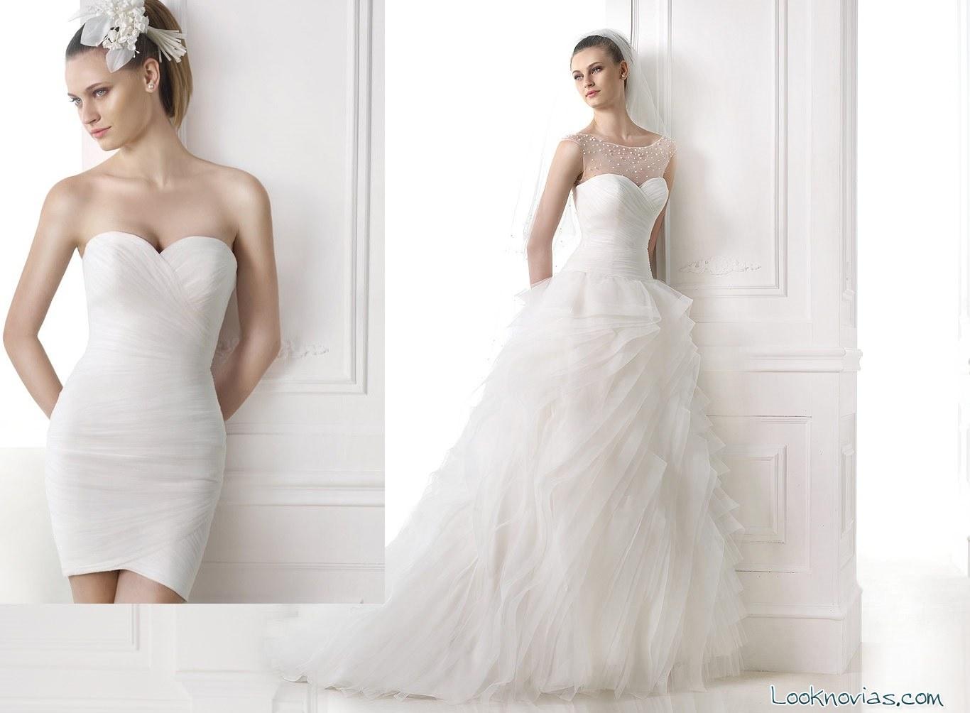 vestido doble de Pronovias