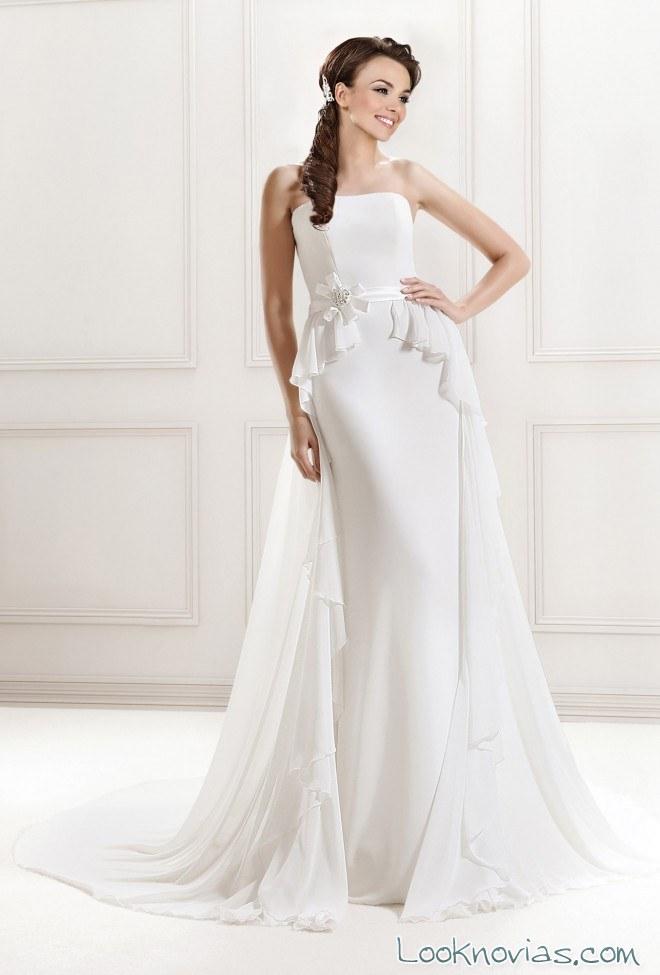 vestido doble falda agnes bridal