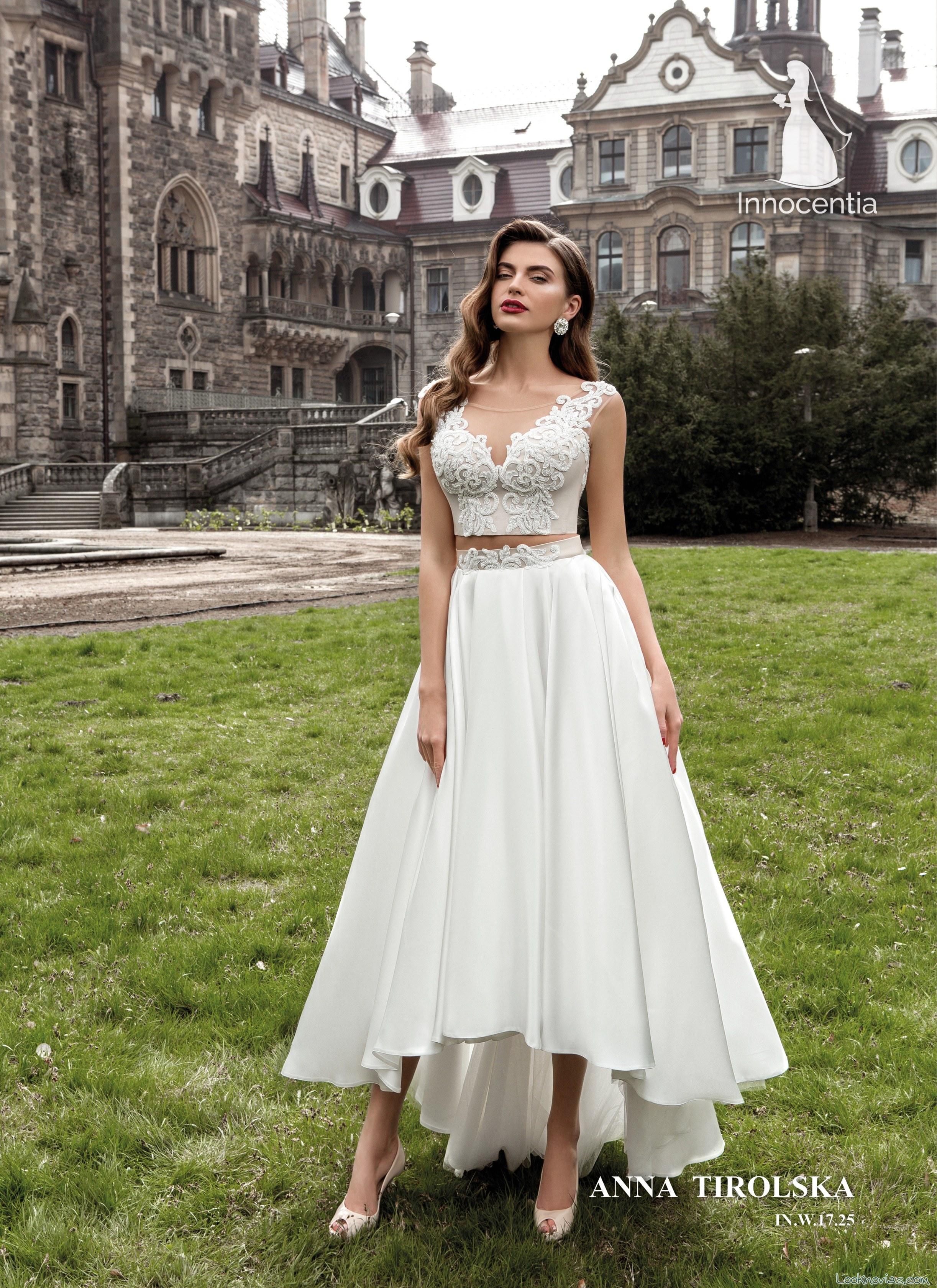 vestido dos piezas novias innocentia