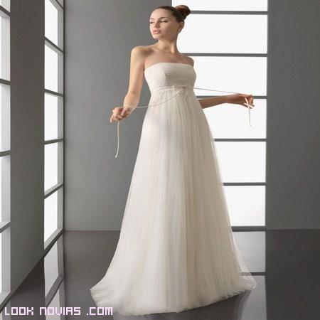 vestidos de corte imperio