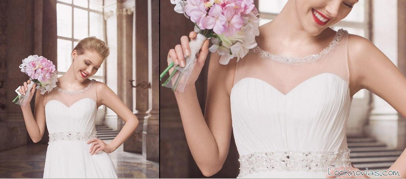 vestido escote fantasía tul impero sposa
