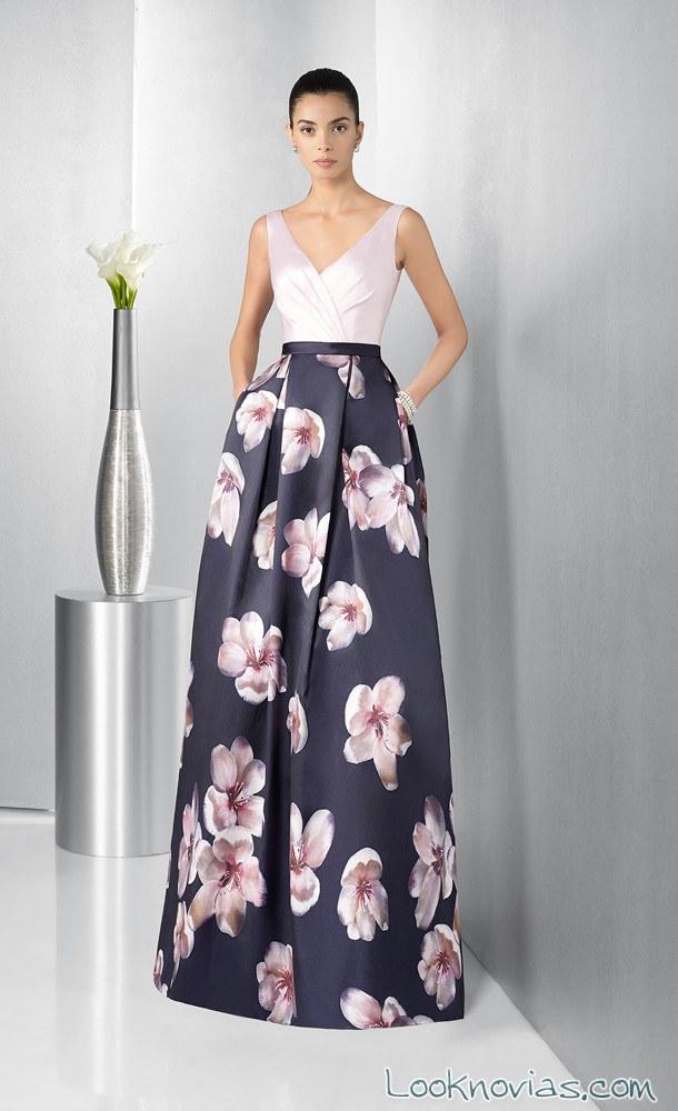vestido estampado flores para fiesta