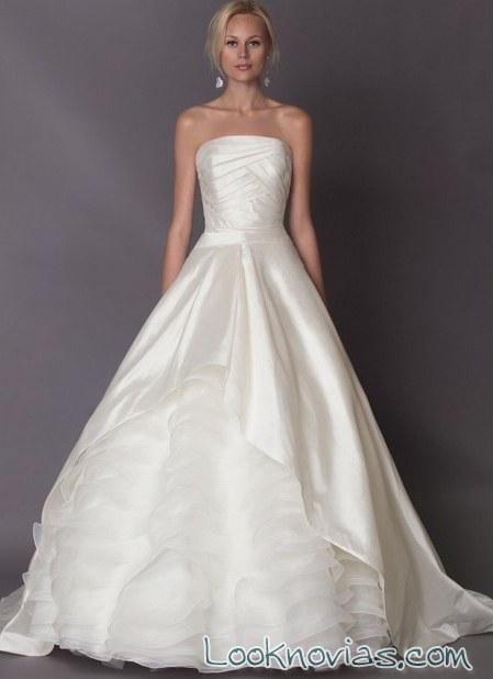 vestido evasé de alyne bridal